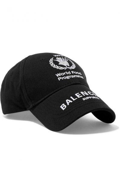 ab4f4cf0 1:1 Balenciaga Replica + World Food Programme Embroidered Cotton-twill  Baseball Cap Hat balenciaga replica runners